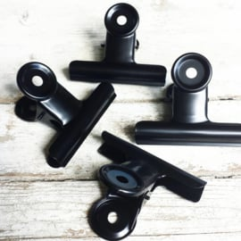 Clip / zwart / 6cm / pstk