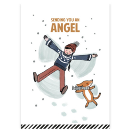 Kerstkaart | Sending you an Angel