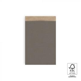 Zakjes kraft | grey | 12x19cm | 5stk