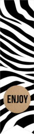 Sticker vaantje   |  zebra - enjoy - 10stk