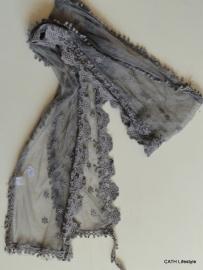 Sjaal | grijs met stiksel | ce
