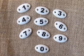 Porceleinen cijfers / nummers OP=OP