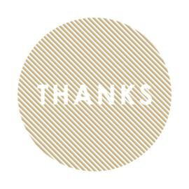 Sticker sluitzegel rond  | thanks goud gestreept | 55mm | 12 stuks