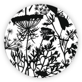 Sticker Botanical / zwart wit / 10 stk