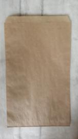 Zakje -Kraft / vlak / 17 x 27,5 cm / 10 stk