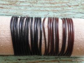 Armband / leer / zwart of bruin
