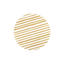 Sticker sluitzegel | rond goud wit strepen - 20stk