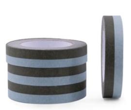 Grote rol Papier tape | duo kleuren frosty blue/ rosemary | 25mm - 66m