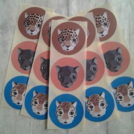 Stickers - sluitzegels Studio Ditte Jacguar / 15 stk