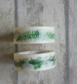 Masking tape - leaves / 2rollen