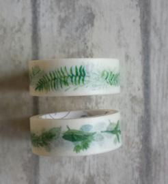 Masking tape - leaves / 2rollen