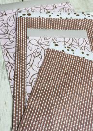 Cadeauzakjes | setje spring roze | 8 stuks