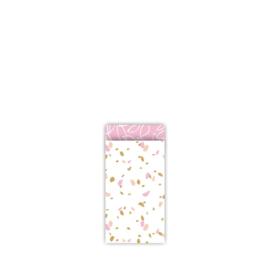 Kado zakjes klein | sow pink | 7x13cm | 5stk