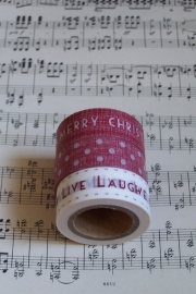 EI 3133 Band 3 meter spoel rood Live, Laugh, Love