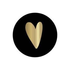Sticker | Hart - zwart foil / 10stk