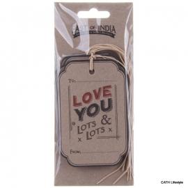 "Labels / tags ""Love You Lots & Lots"" / 6 stks /EI 2206"