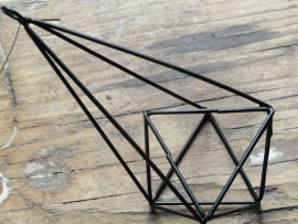 Hanger diamant zwart