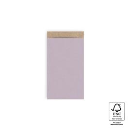 Kraft zakjes lila | 7x13cm | 5stk