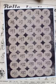 EI 1737 Stickervel nummers 1-40