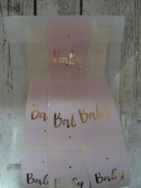 Stickers / Baby roze / 20 stks