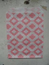 LI Vlakke zakjes flower pink