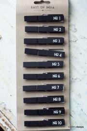 Knijpers /Genummerd zwart 1 t/m 10 / EI 2965