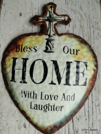 FI Tekstbord Bless Our Home.....
