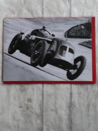 Kaart -oude raceauto