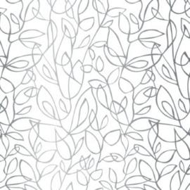 Vloeipapier - tissuepapier | fine fleurs zilver | 5 stuks