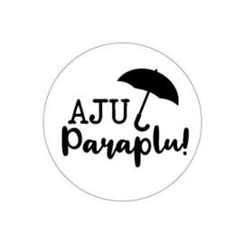 Sticker - rond wit | Aju Paraplu | 10stk
