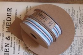 EI 3240 Band 3 meter spoel creme / aqua / beige streep