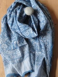 Sjaal / Tapas blauw