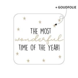 Sticker sluitzegel - kerst   The most wonderful time of the year   20stk