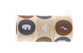 Sticker sluitzegel mix - Nanami Animals | 50mm | 12stk