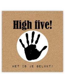 Cadeaukaartje | High Five het is je gelukt