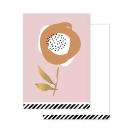 Klein kaartje - arts & craft - Flower light pink