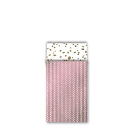 Zakje connecting dots - roze wit goud - 12x19cm - 10stuks