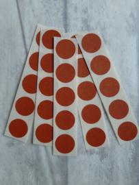 Sticker dot mini rond / terra - roest / 25 stk