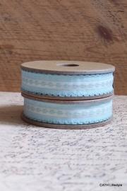 EI 3181 Band 3 meter spoel blauw embroidere