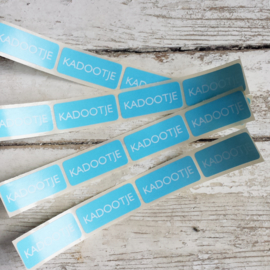 Stickers Kadootje - licht blauw / 20 stk