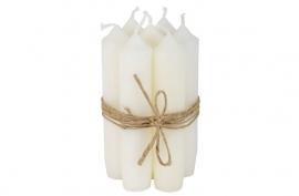 Kaarsen wit / korte dinner kaarsen