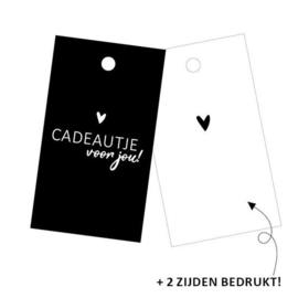 Cadeaulabel - rechthoek | Cadeautje voor jou!