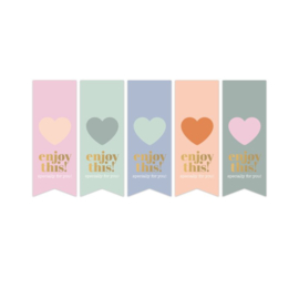 Sticker vaantjes pastel assorti | enjoy this.... | 10stk