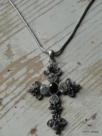 Ketting / Kruis met steentjes