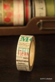 Washi Masking tape / letters