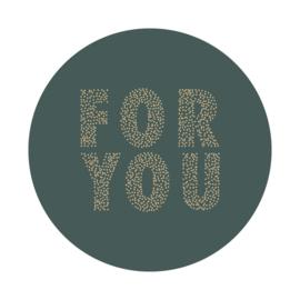 Sticker sluitzegel - rond petrol   FOR YOU   55mm   9stk