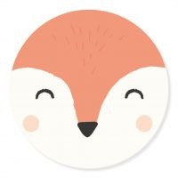 Sticker - snuit Fox | 50mm | 10stk