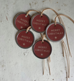 Label / rond / Merry Christmas / pstk