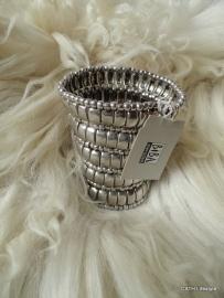 BIBA Armband / zilverkleurig / breed
