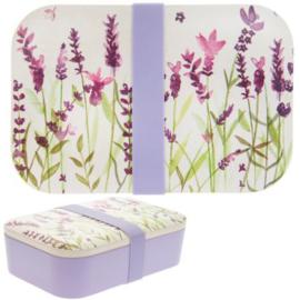 Bamboe lunchtrommel - lunchbox / Lavender garden